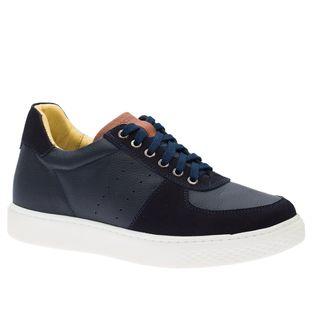 Tenis-Masculino--Linha-UP--em-Couro-Floater-Marinho-Nobuck-Marinho-2230--Doctor-Shoes-Azul-Marinho-37