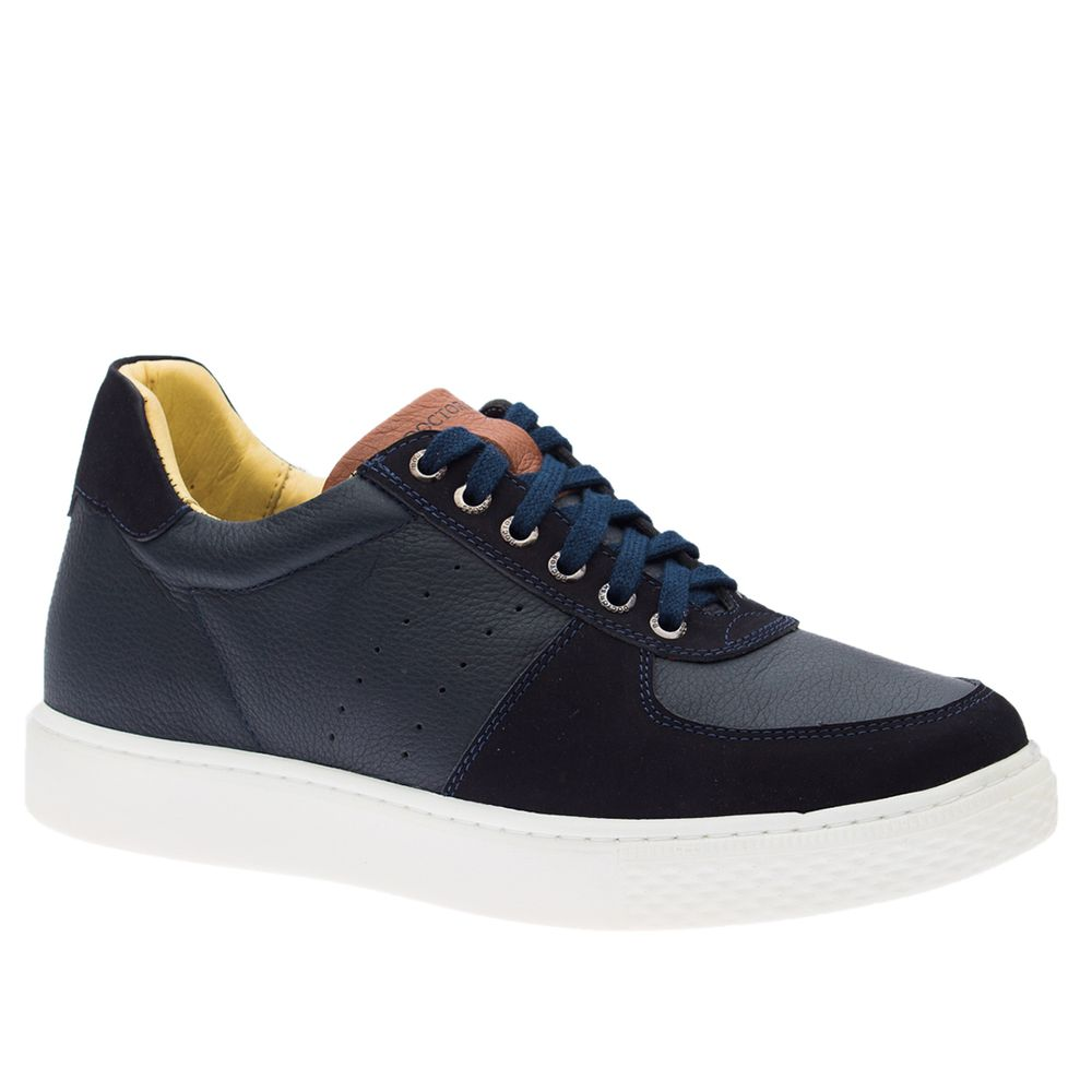 Tenis-Masculino--Linha-UP--em-Couro-Floater-Marinho-Nobuck-Marinho-2230--Doctor-Shoes-Azul-Marinho-38