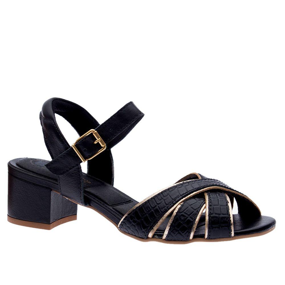 Sandalia-Feminina-em-Couro-Croco-Preto-Ouro-1493--Doctor-Shoes-Preto-34