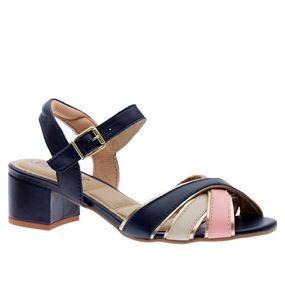 Sandalia-Feminina-em-Couro-Marinho-Nectar-Off-White-Ouro-1493--Doctor-Shoes-Marinho-34