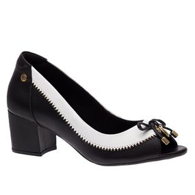 Peep-Toe-Feminino-em-Couro-Roma-Preto-Branco-1506-Doctor-Shoes-Preto-35