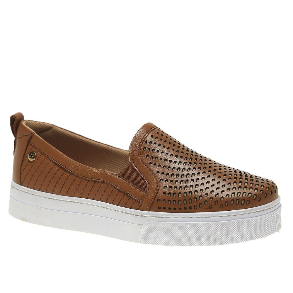 Tenis-Feminino-Slip-On-em-Couro-Roma-Ambar-1467-Doctor-Shoes-Caramelo-35