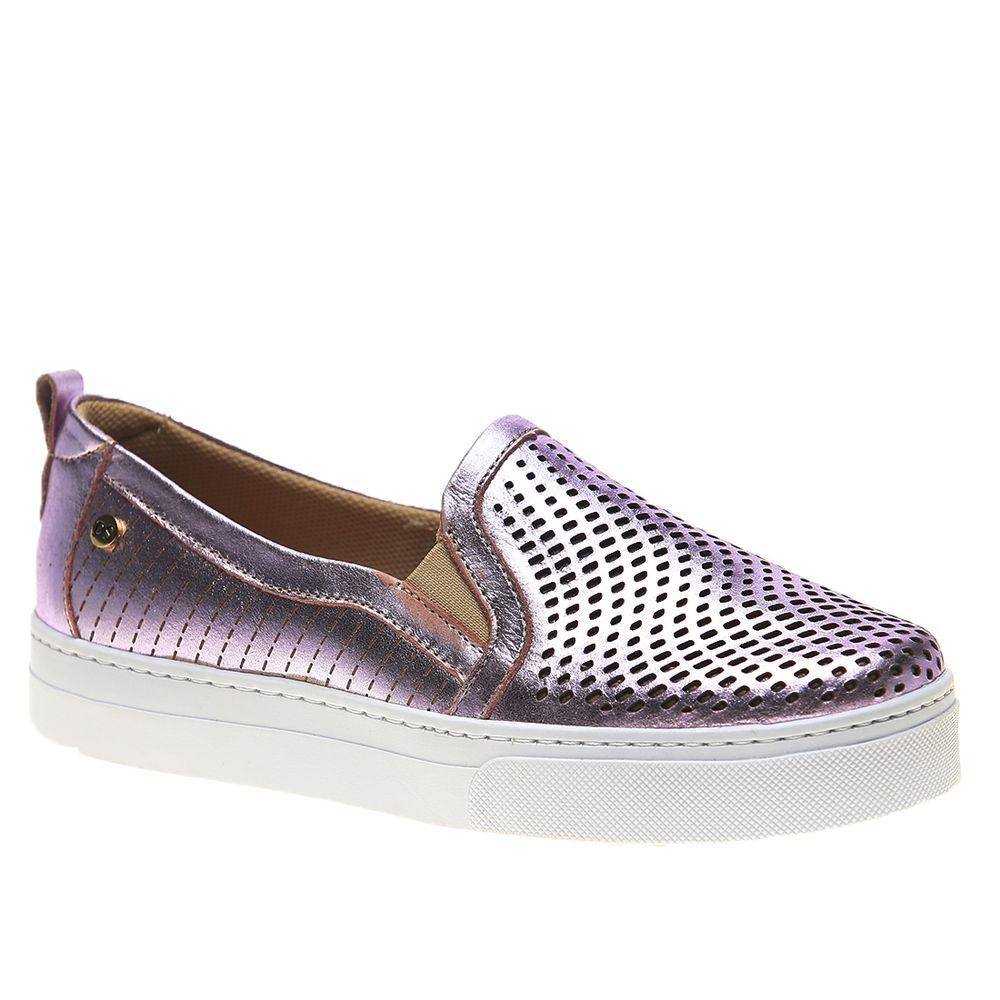 Tenis-Feminino-Slip-On-em-Couro-Metalizado-Rose-1467-Doctor-Shoes-Rose-35