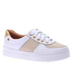 Tenis-Feminino-em-Couro-Roma-Branco-Off-White-Dourado-1469-Doctor-Shoes-Branco-34