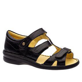 Sandalia-Feminina-em-Couro-Croco-Preto-380--Doctor-Shoes-Preto-34