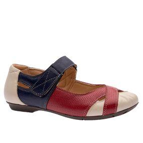 Sapatilha-Feminina-em-Couro-Roma-Off-White-Framboesa-Petroleo-1298-Doctor-Shoes-Bege-34