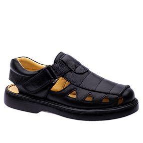 Sandalia-Masculina-302-em-Couro-Floater-Preto-Doctor-Shoes-Preto-36