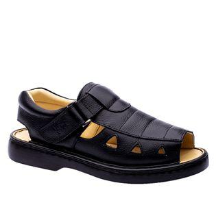 Sandalia-Masculina-303-em-Couro-Floater-Preto-Doctor-Shoes-Preto-36
