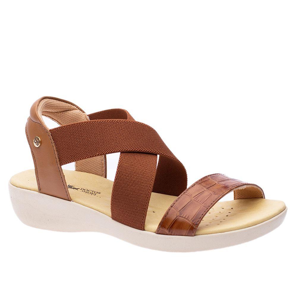 Sandalia-Anabela-em-Couro-Croco-Conhaque-tam-112-Doctor-Shoes-Caramelo-34