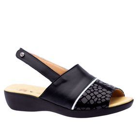 Sandalia-Feminina-em-Couro--Preto--Branco-Preto-113--Doctor-Shoes-Preto-34
