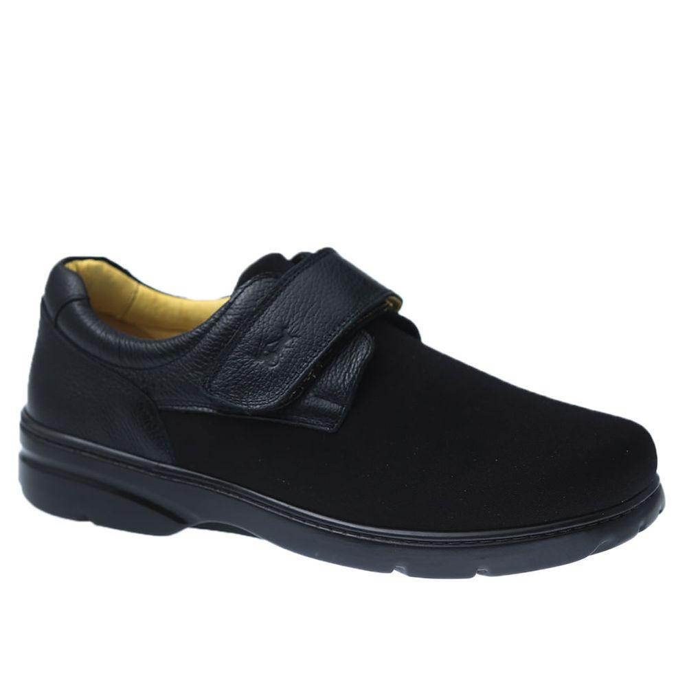Sapato-Casual-Doctor-Shoes-Joanete-Techprene-Couro-5305-Preto