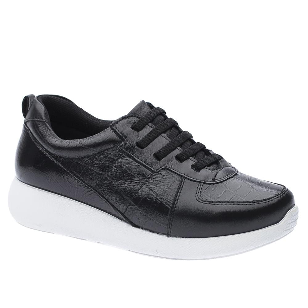 Tenis-Doctor-Shoes-Couro-1403-Elastico-Preto