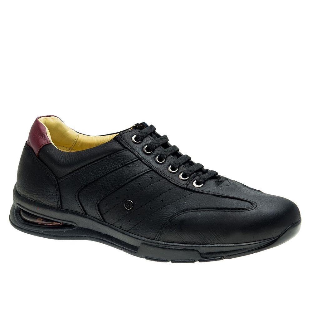 Sapato-Casual-Doctor-Shoes-Bolha-de-Ar-System-Anti-Impacto-Couro-2138-Elastico-Preto-Amora
