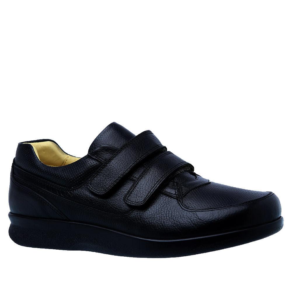 Sapato-Casual-Doctor-Shoes-Diabetico-Couro-3058-Preto