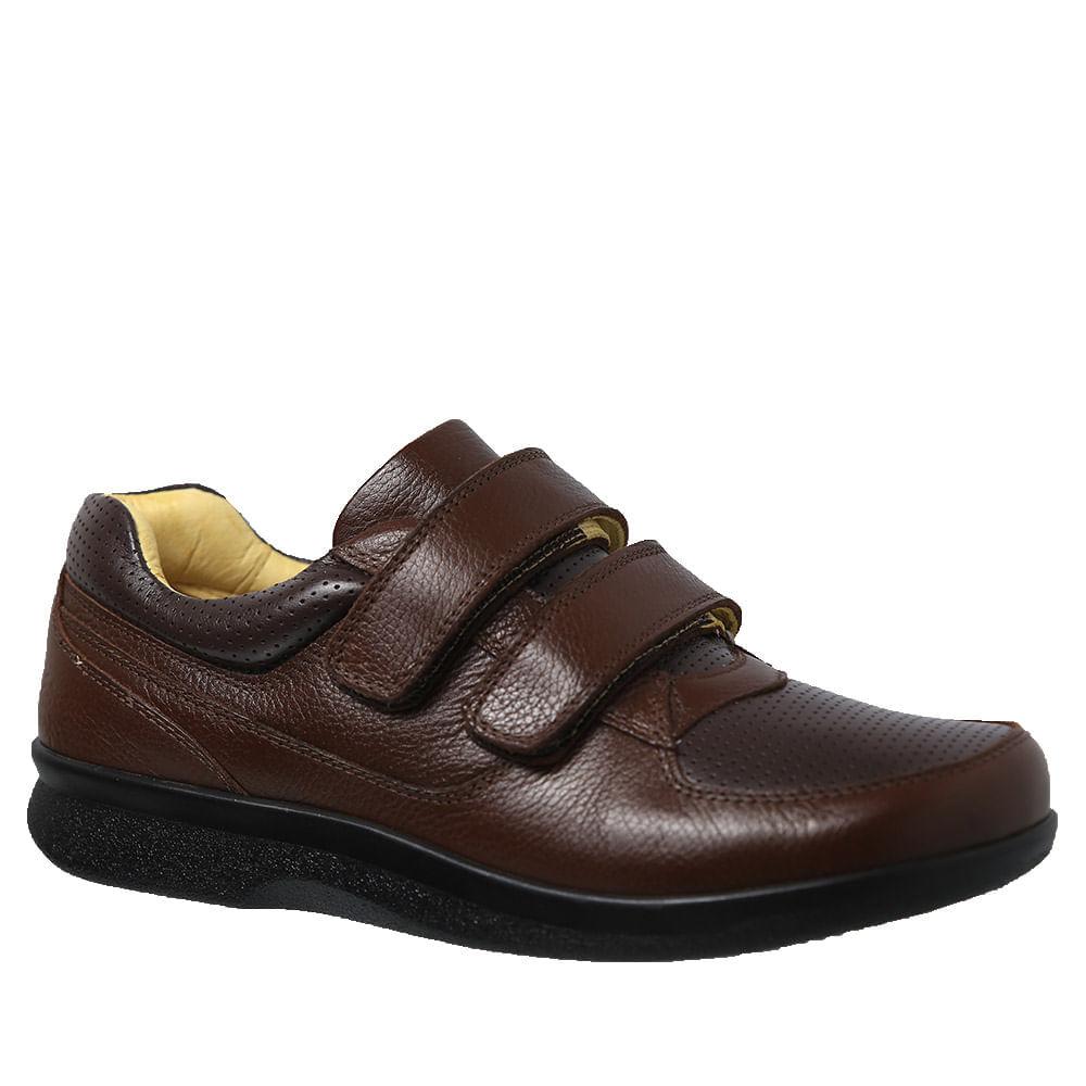 Sapato-Casual-Doctor-Shoes-Diabetico-Couro-3058-Cafe