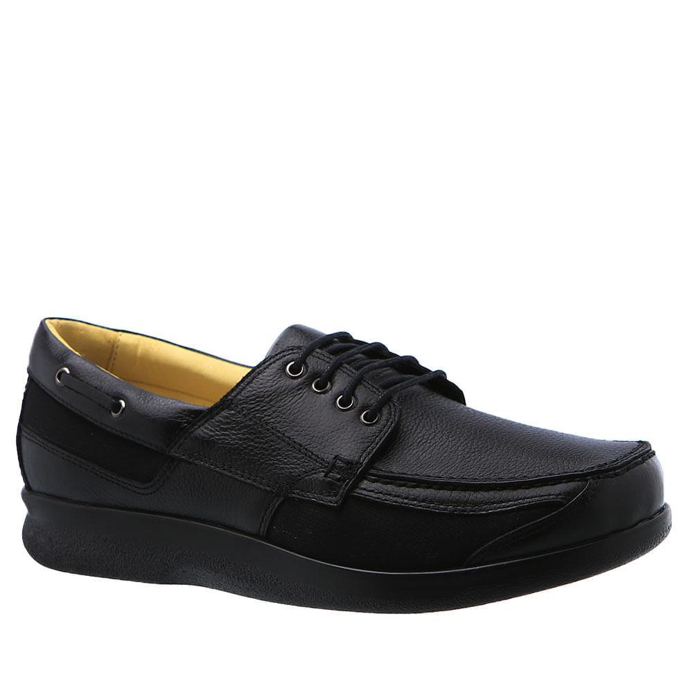 Sapato-Casual-Doctor-Shoes-Diabetico-Couro-3057-Preto