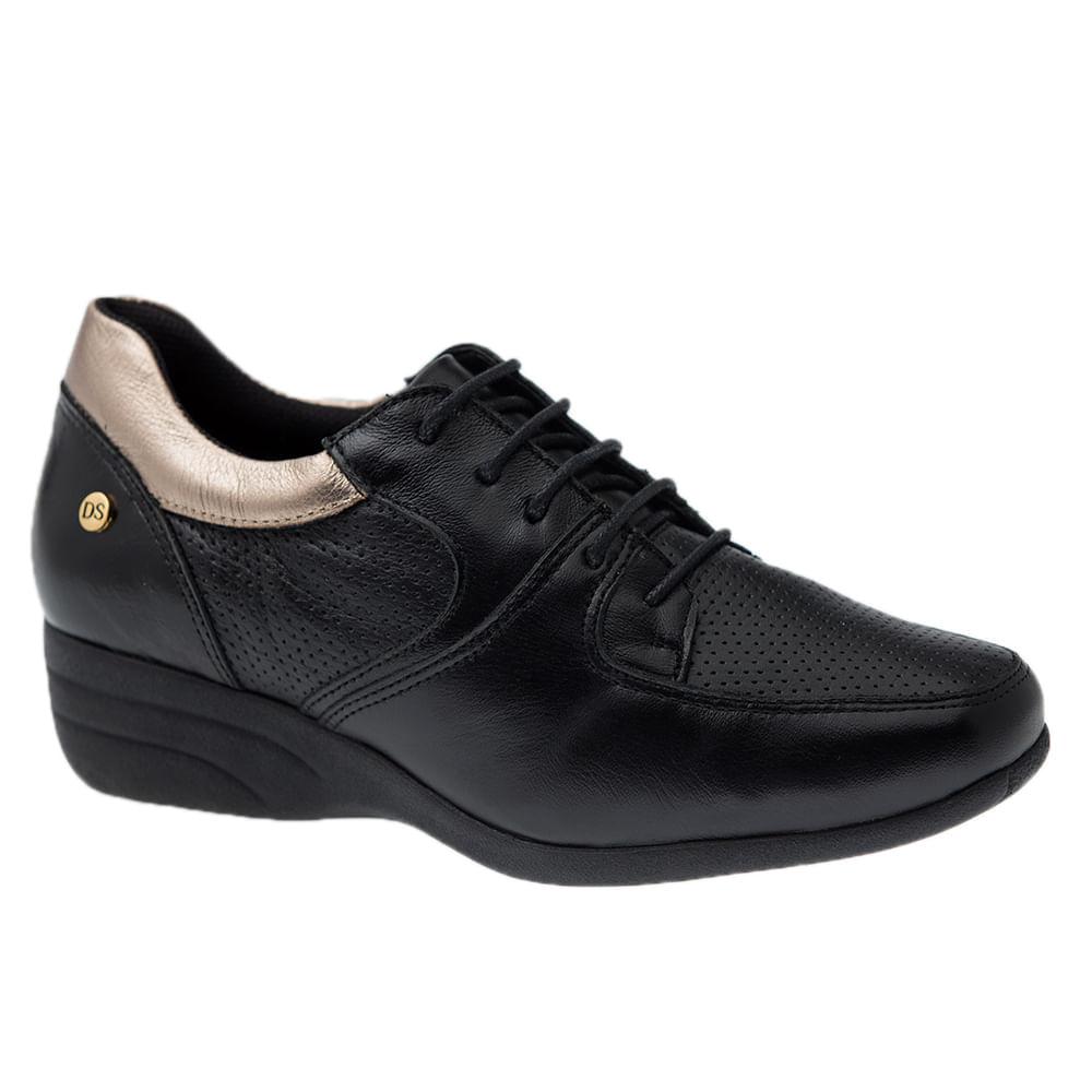 Sapato-Anabela-Doctor-Shoes-Couro-3147-Preto-Metalic