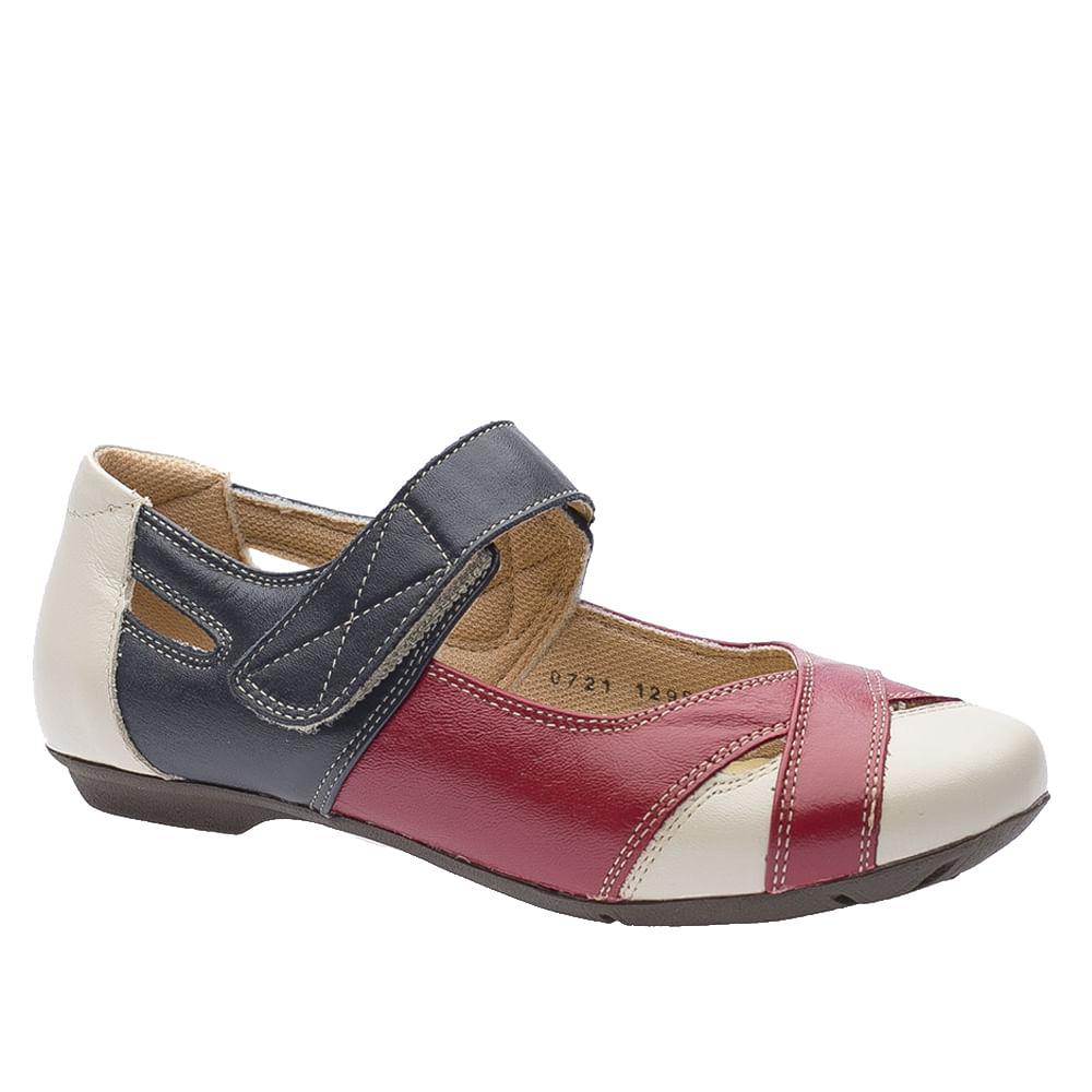 Sapatilha-Doctor-Shoes-Couro-Liso-1298-Framboesa-Marinho