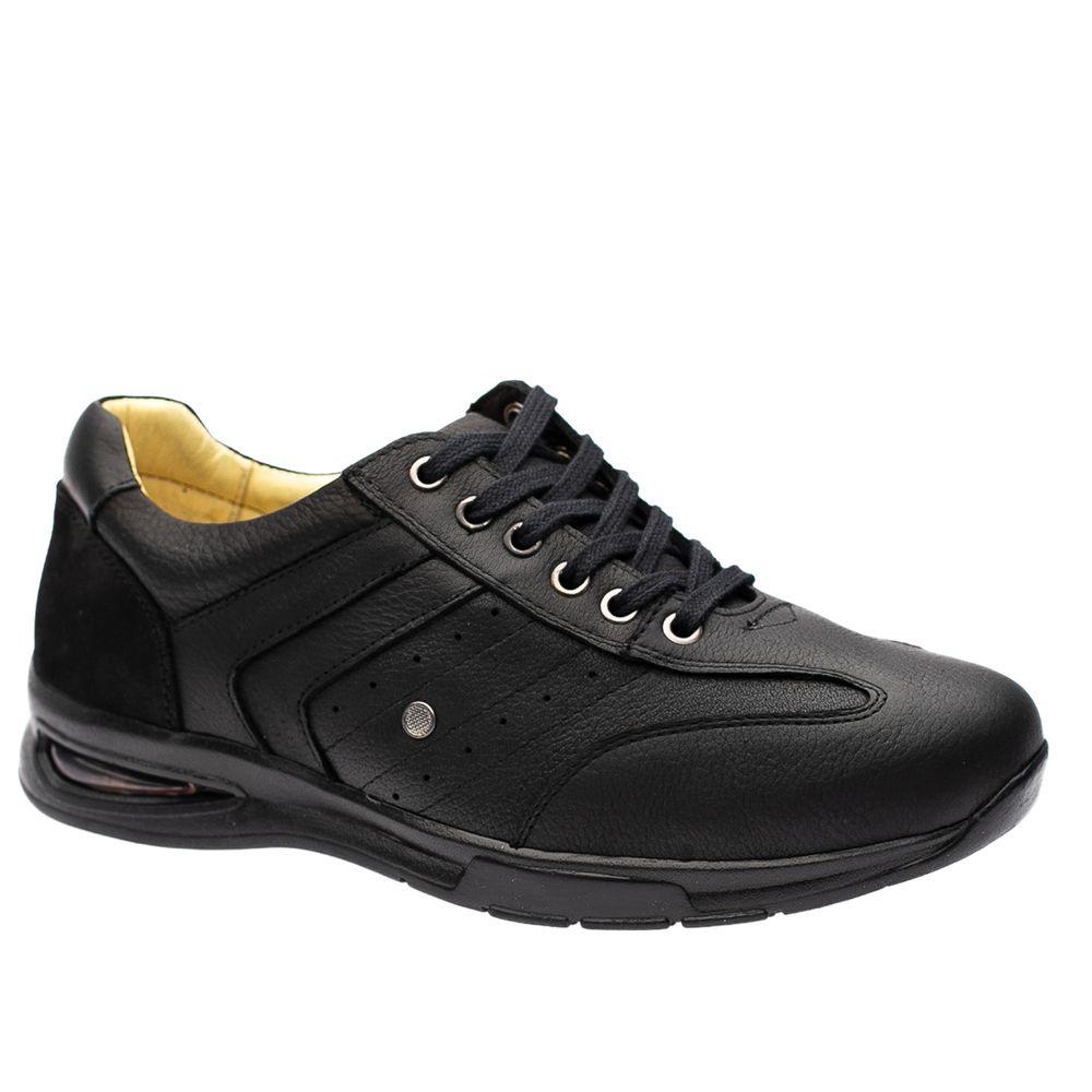 Sapato-Casual-Doctor-Shoes-com-Bolha-de-Ar-System-Anti-Impacto-Couro-2137-Preto