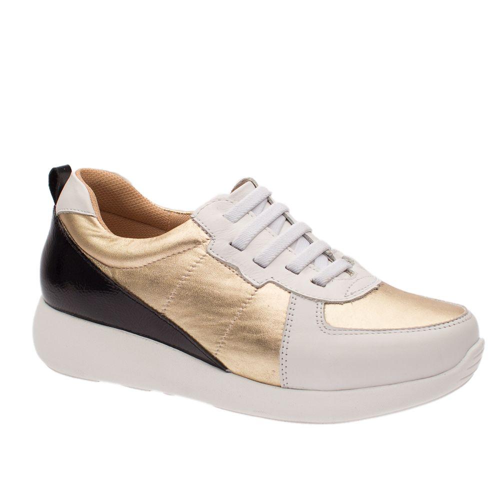 Tenis-Doctor-Shoes-Couro-1403-Branco-Dourado