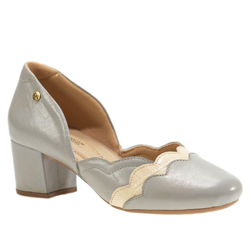 Sapato-Salto-Doctor-Shoes-Couro-1239-Grigio-Crema
