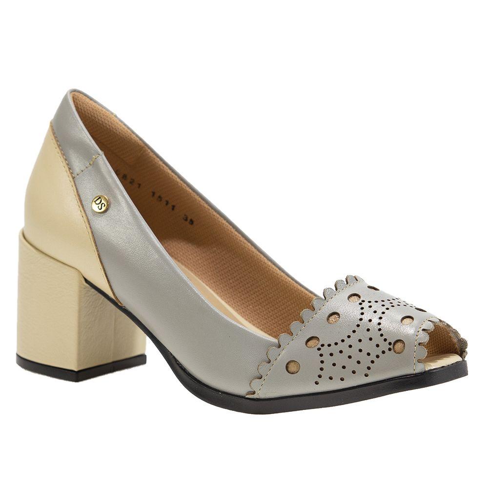 Sapato-Salto-Doctor-Shoes-Peep-Toe-1511-Grigio-Crema